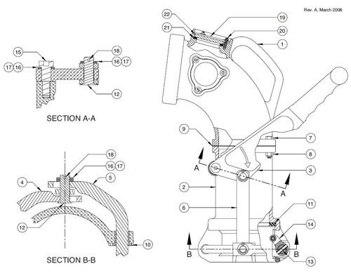60TTF Product Drop Elbow Parts - Yoke Assembly Kit - 13, 14,