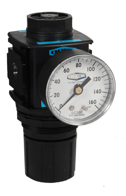 Dixon Wilkerson 1/4 in. R18 Compact Regulator With Gauge