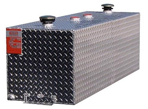 72 Gallon DOT Aluminum Rectangular Split Two Fuel Transfer Tank