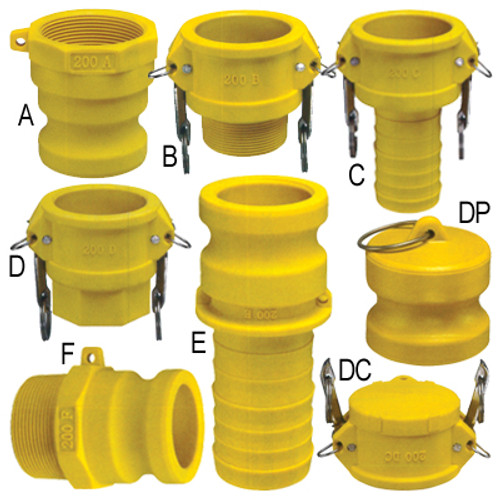 2 in. Glass Reinforced Nylon Quick Couplings