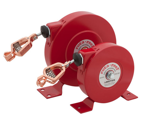 AMETEK Hunter Spring Rota-Reel Static Grounding/Bonding Reels with Galvanized Steel Cable