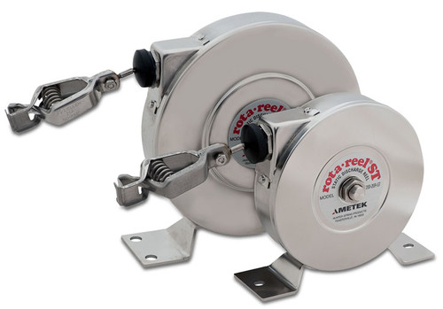 AMETEK Hunter Spring Products Stainless Steel Rota-Reel Static Grounding/Bonding Reels w/ Hytrel Coated Galvanized Cable