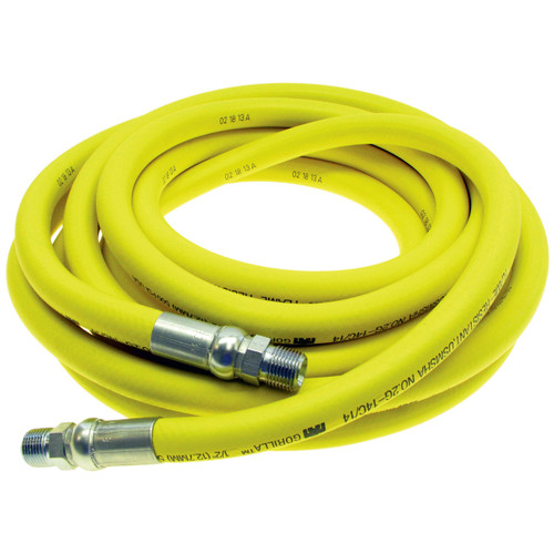 Continental ContiTech 3/8 in. Gorilla 500 PSI Air Hose Assemblies w/ Crimped Male NPT Fittings