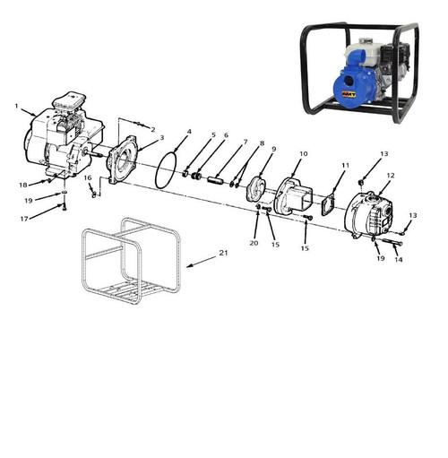 AMT/Gorman Rupp 316 Series Solids Handling Pump Parts