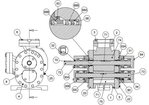 roper pumps model 3858  u0026 4858 pump replacement parts