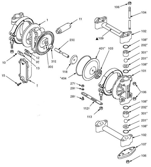 Graco husky 307 diaphragm pump fluid kit john m ellsworth co inc graco husky 307 diaphragm pump fluid kit ccuart Gallery