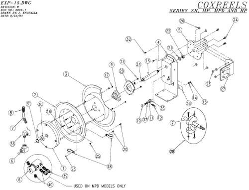Coxreels Sh N Mp N Hp N Series Parts
