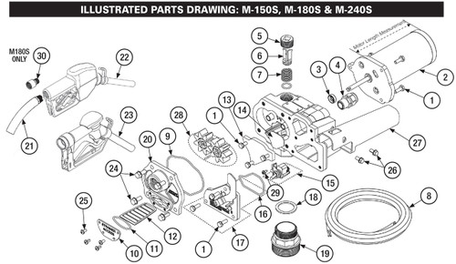 gpi m150  u0026 m180 series replacement parts