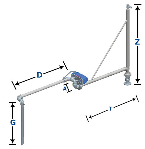 opw supported extended reach loading arm  b-32-f
