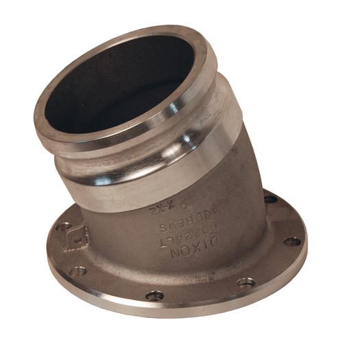 Truck Pipe Rack >> Dixon 4 in. Aluminum 22 1/2° Angle Adapter x TTMA Flange - John M. Ellsworth Co. Inc.
