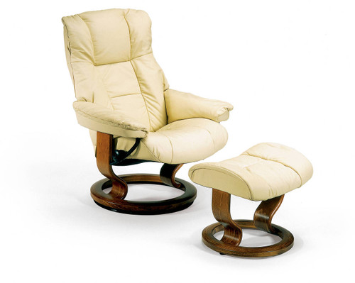 Stressless Metro High Back High Base Chair With Ottoman