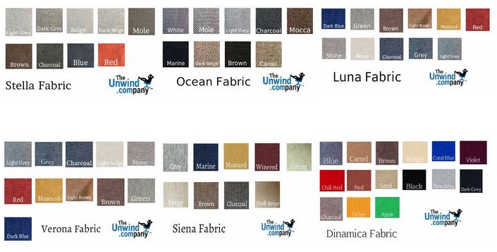 All Fabrics available for Ekornes furniture.