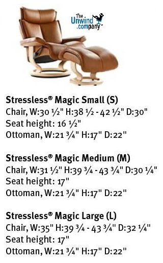 Magic Recliner Dim. card.