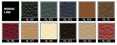 Nordic Line Leather Samples for Fjords Recliners.