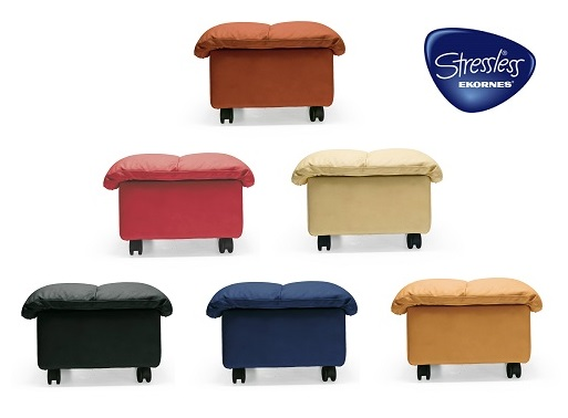 Ekornes Soft Ottomans are available in Medium and Large Sizes.