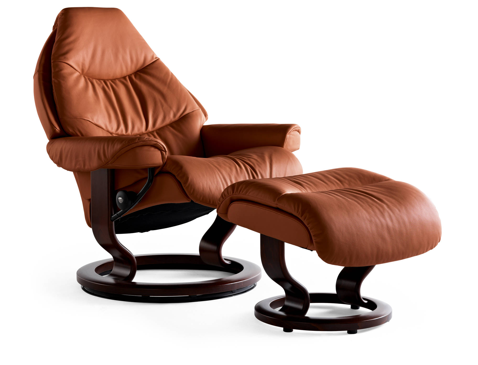 Tigereye Royalin Leather Voyager Recliner by Ekornes