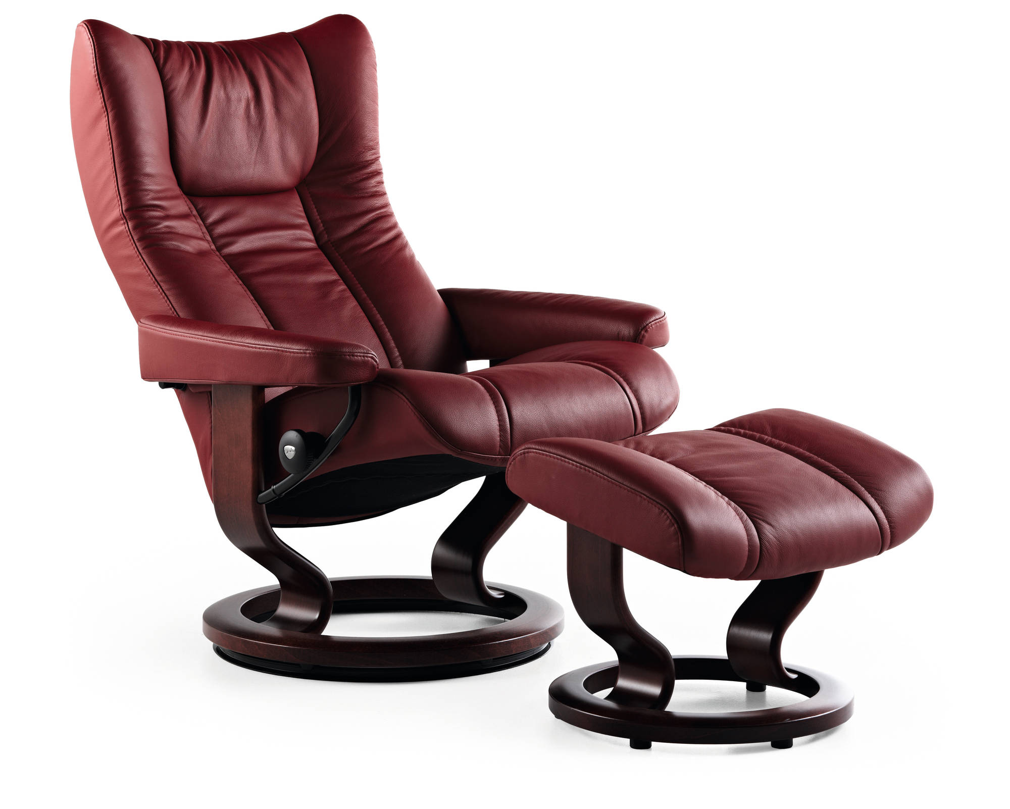 Ekornes Stressless Wing Recliner with footrest.