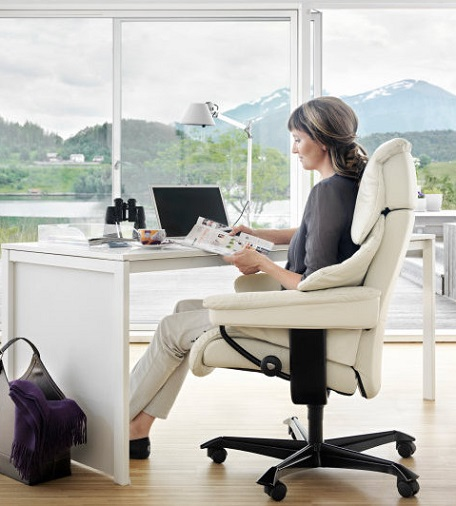 Increase your Comfort and Productivity with a Stressless Office Chair.