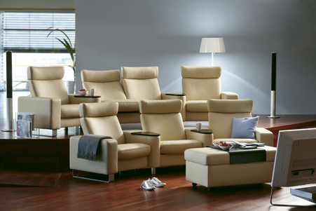 stressless space complete home theater seating. Black Bedroom Furniture Sets. Home Design Ideas