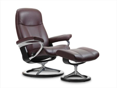 stressless consul recliner signature base or legcomfort ottoman. Black Bedroom Furniture Sets. Home Design Ideas