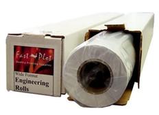 36 lb. Premium Coated Bond Plotter Paper 24 x 100 2 Core - 1 Roll