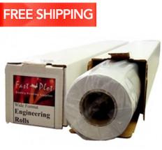 20 lb. Bond Plotter Paper Taped 18 x 500 3 Core - 4 Rolls