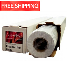 18 lb. Translucent Bond Plotter Paper 30 x 300 2 Core - 4 Rolls