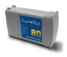 FastPlot Re manufactured Ink Cartridge Replacement for HP 80  Cyan  Dye 350ml