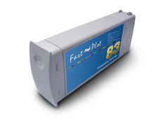 FastPlot Re manufactured Ink Cartridge Replacement for HP 83 UV Ink  - Cyan