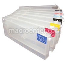 Set of 8 Refillable Ink tanks for Epson 4880 (T6061-9)