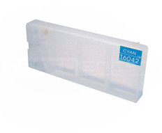 FastPlot Refillable Ink Cartridge Replacement for Epson 7880 / 9880 Replaces T6032 Cyan