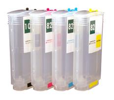 Set of Refillable Ink tanks  for HP DesignJet 500 / 800 / 815