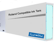 FastPlot Compatible Ink Cartridge Replacement for Roland Solvent Printers - Light Cyan 220ml