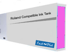 FastPlot Compatible Ink Cartridge Replacement for Roland Solvent Printers - Magenta 220ml