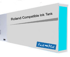 FastPlot Compatible Ink Cartridge Replacement for Roland Solvent Printers - Cyan 440ml