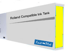 FastPlot Compatible Ink Cartridge Replacement for Roland Solvent Printers - Yellow 440ml