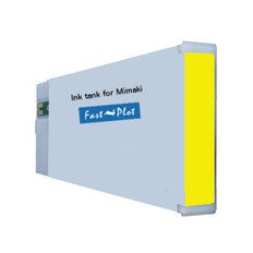 FastPlot Compatible Ink Cartridge Replacement for Mimaki JV3 (SS2) - Yellow 440ml