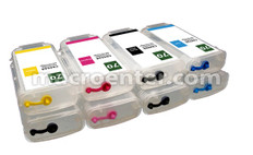 Set of 8 Refillable ink tank 70 for z5200