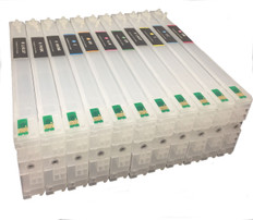 FastPlot Refillable Ink Cartridge Replacement for Epson 4900 Set of 11