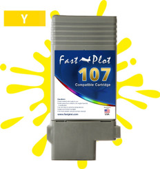 FastPlot Compatible Ink Cartridge Replacement for Canon 107 color  Yellow