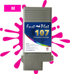 FastPlot Compatible Ink Cartridge Replacement for Canon 107 color   Magenta