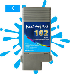 FastPlot Compatible Ink Cartridge Replacement for Canon 102 - Cyan