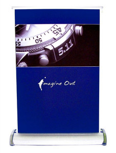 A3 Size Single Sided Mini Retractable Banner Stand
