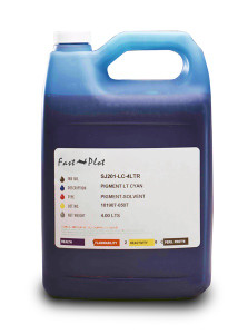 Gallon 3785ml of Eco Solvent Ink for use in Roland printers Light Cyan made in the USA