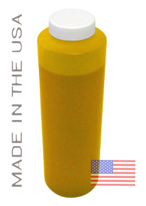 Bottle 454ml of Pigment ink for use in Epson R1800 printer Yellow made in the USA