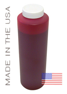Bottle 454ml of Pigment ink for use in Epson R1800 printer Red made in the USA