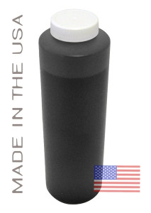 Bottle 454ml of Pigment ink for use in Epson R2400 printer Matte Black made in the USA