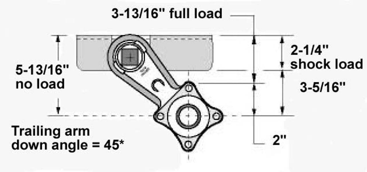 3,500 lbs Eliminator Torsion Axles for 72