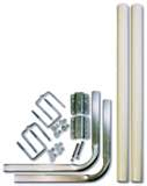 Heavy Duty Tube PVC Guide Post Kit To Fit Aluminum I Beam