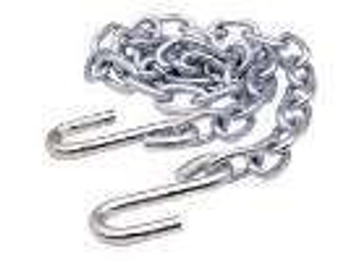 """5/16 X 52"""" Zinc Safety Chain With Hooks"""